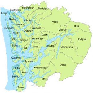 kart over nordhordland Bergensregionkart.com kart over nordhordland